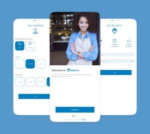 BuzzHire app screens